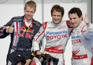 Trulli, Glock y Vettel tras la clasificación en Bahrein
