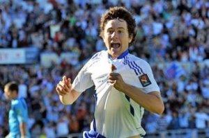 Ander celebra el primer gol